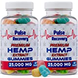 Hemp Gummies (2-Pack - 120 Count) Premium Hemp Extract Gummies - 25,000mg per Bottle - for Relief of Pain, Stress, Anxiety, &