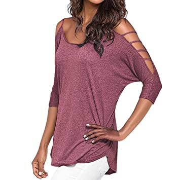 Paellaesp frío hombro camiseta para Mujer,Camiseta de Manga Larga blusa Tops camisa Tapas,