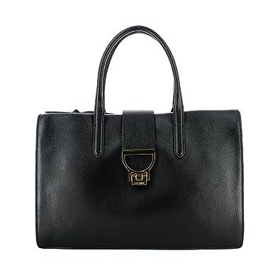 8cf73c21d47bb Coccinelle Arlettis Borsa Pelle Vitello 18-02 Damentasche aus Leder nero   Amazon.de  Schuhe   Handtaschen