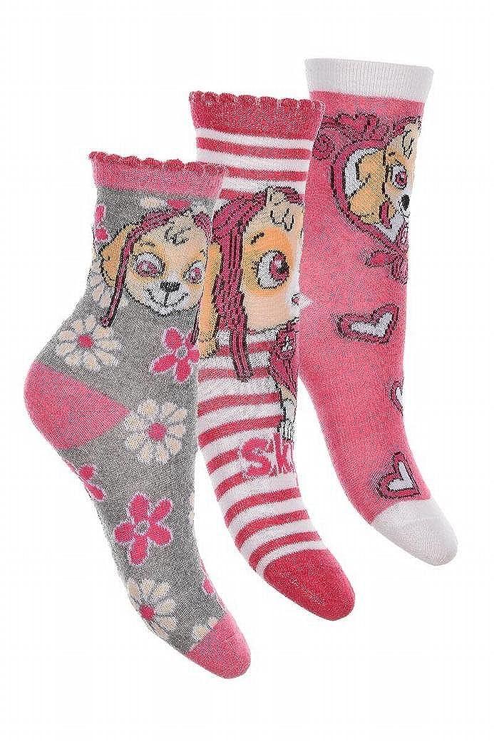 Pack de 3 pares de calcetines de Skye de la Patrulla Canina 27//30