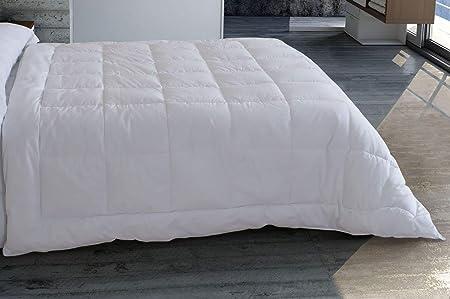 Algodón blanco - relleno microfibra, 400gr, transpirable, blanco, 150x220: Amazon.es: Hogar
