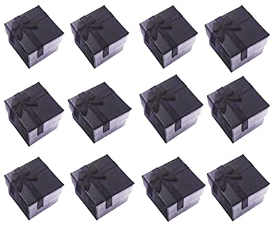 Buy Glitterymall 12pcs Black Color Cube Cardboard Jewelry Bangle