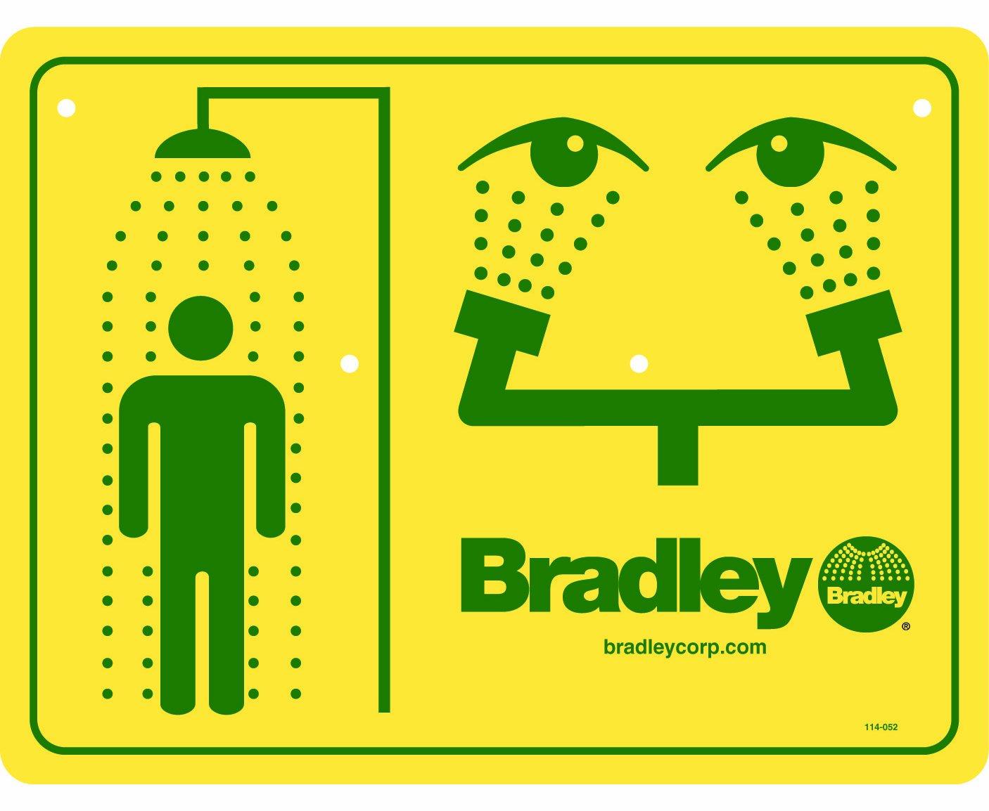 Bradley 114-052 Combination Shower and Eyewash Safety Sign