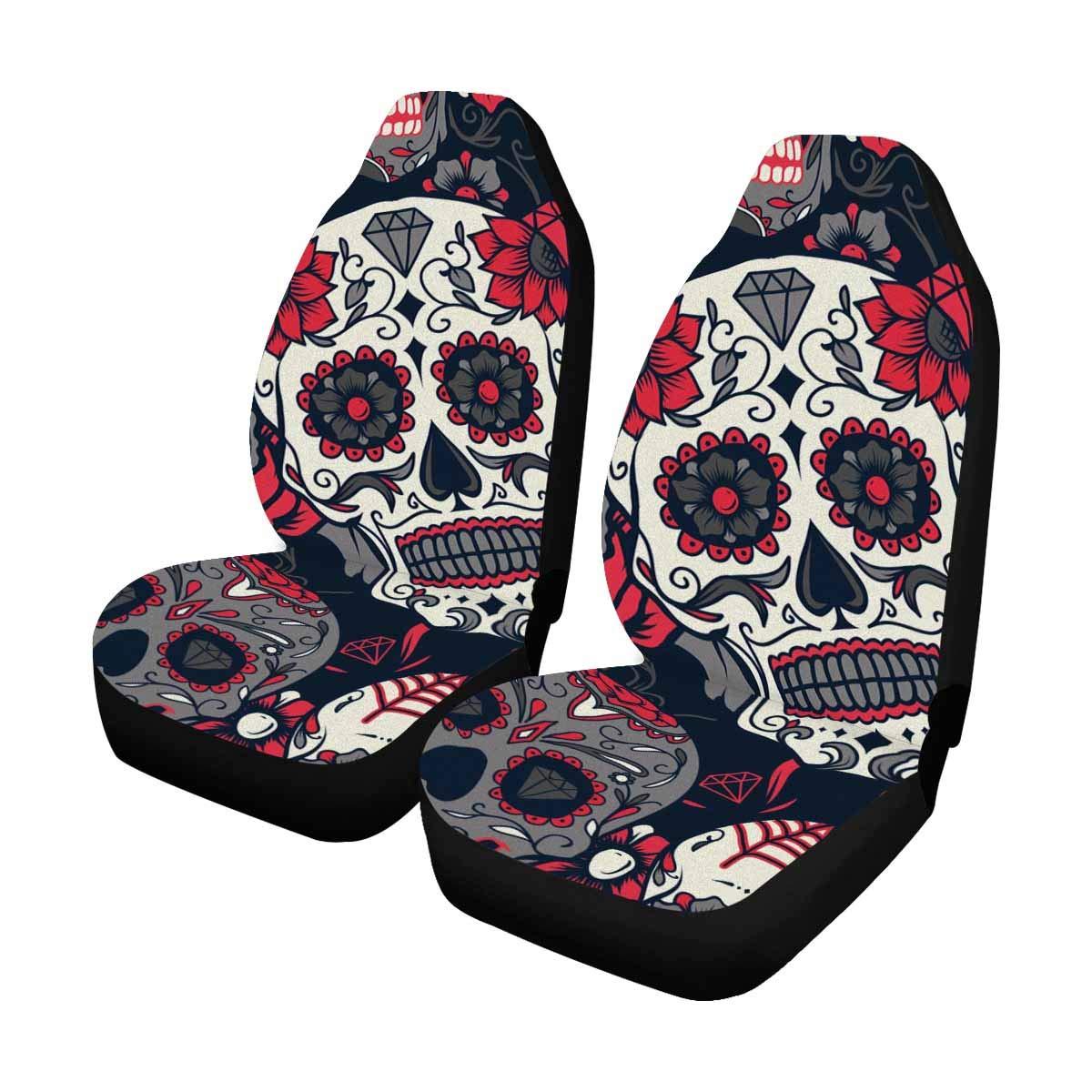 Terrific Interestprint Day Of The Dead Sugar Skull With Floral Auto Machost Co Dining Chair Design Ideas Machostcouk