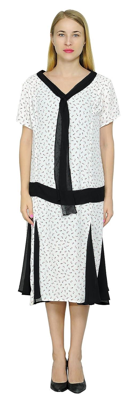 1920s Plus Size Flapper Dresses, Gatsby Dresses, Flapper Costumes Marycrafts Woment Drop Waist 1920s Lined Floral Godet Dress $40.90 AT vintagedancer.com