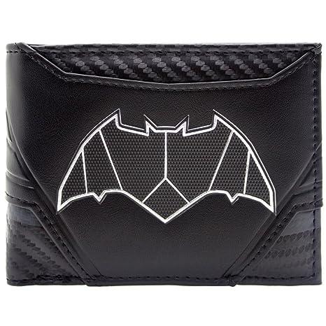 Cartera de DC Batman Estilo de traje de carbono Negro