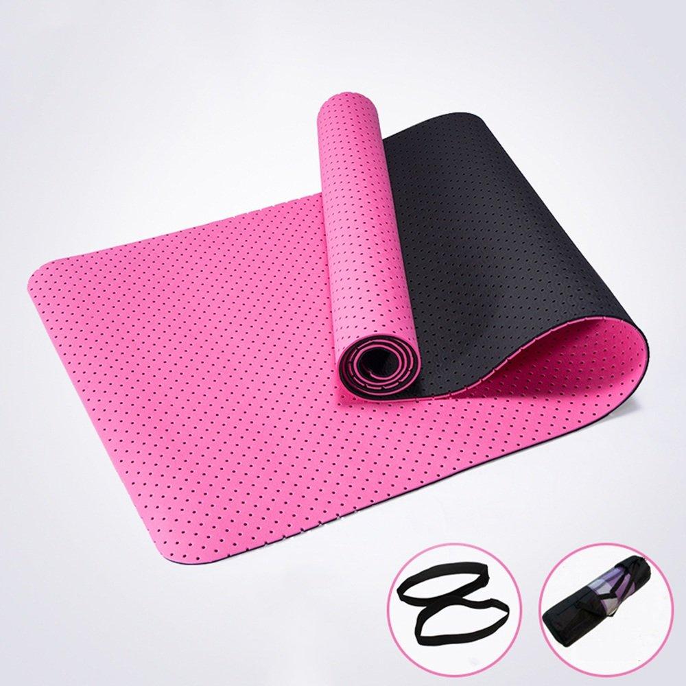Anti-Rutsch-Yoga-Matte --- TPE Hohle Atmungsaktive Yogamatten Anfänger Rutschfest Fitness-Matten --- Naturkautschuk Yoga-Matte, für Training   Pila