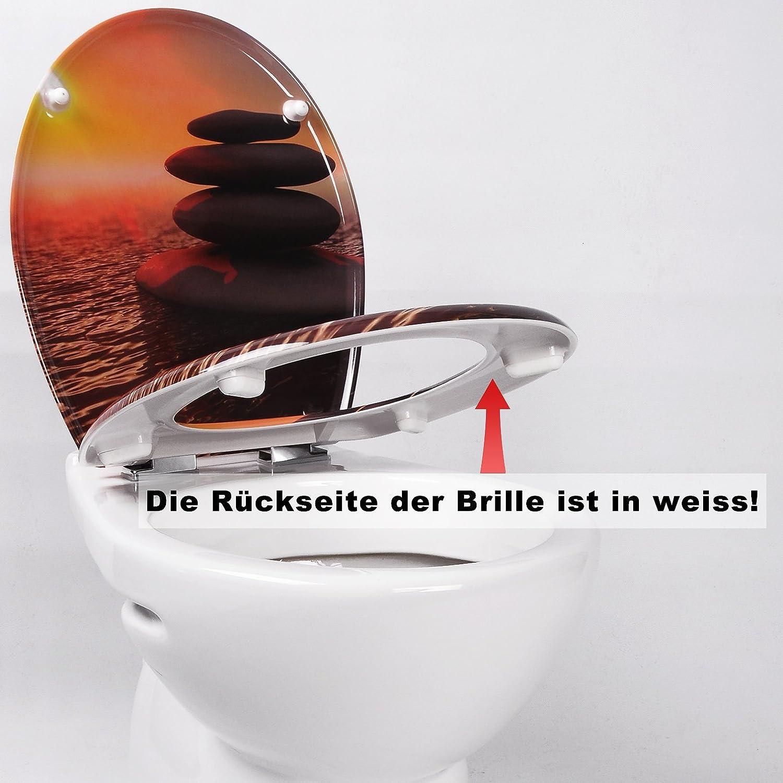 WOLTU Couvercle de WC avec SoftClose Fonction,Abattant WC en Duroplaste Si/ège de Toilette Design D/éco,WS2792
