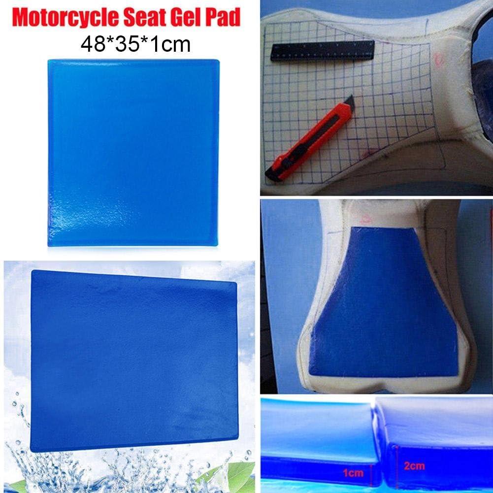 Silverbirdly Gel Matte Für Motorradsitz Stoßdämpfung Bequemes Kissen Blau 48 X 35 X 1 Cm Auto