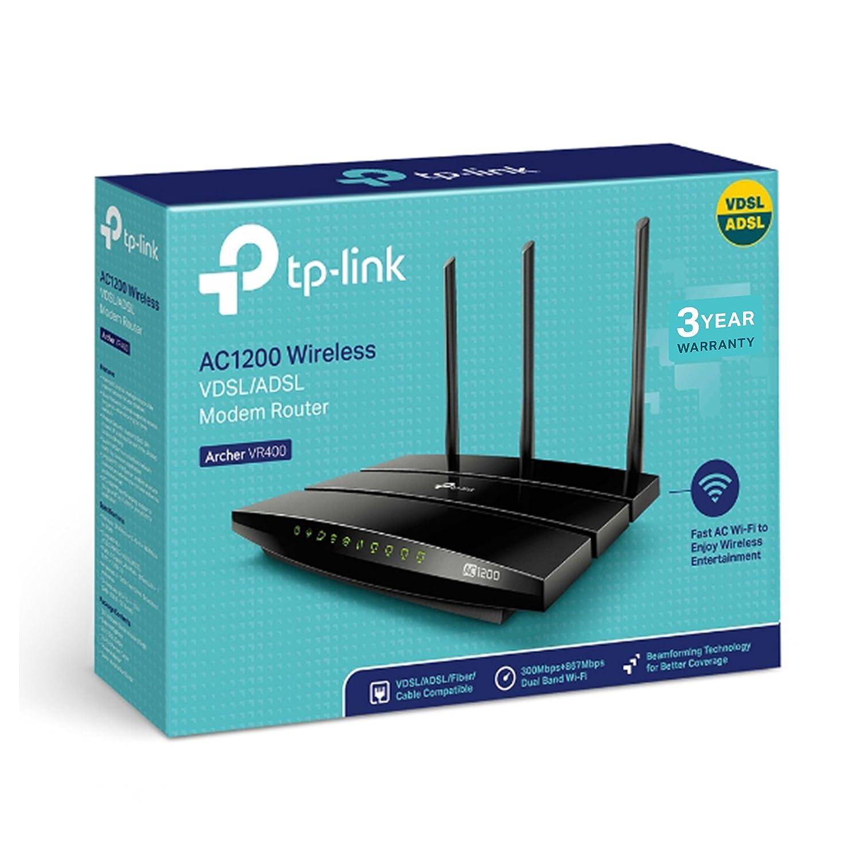 TP-Link AC1200 Wireless VDSL/ADSL, ARCHER_VR400: Amazon.de: Computer ...