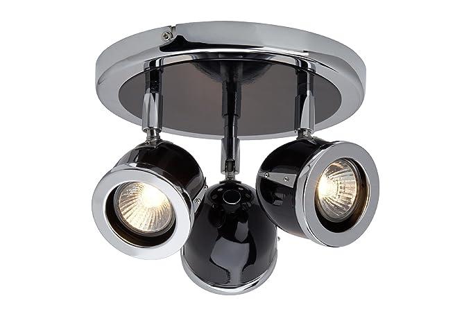 Brilliant G10034/76 Spotrondell Cinda - Lámpara de techo con 3 focos (metal,