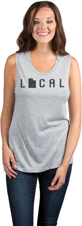 Local Utah State Womens Fashion Sleeveless Muscle Tank Top Tee