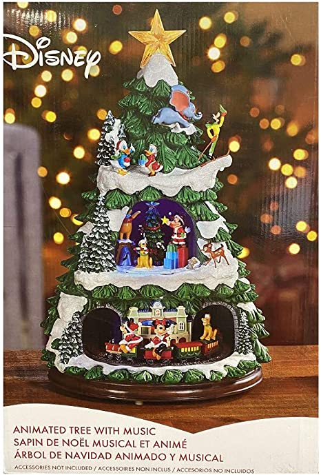 Amazon Com Disney Animated Christmas Tree 17 Inch With 8 Holiday Songs Home Kitchen