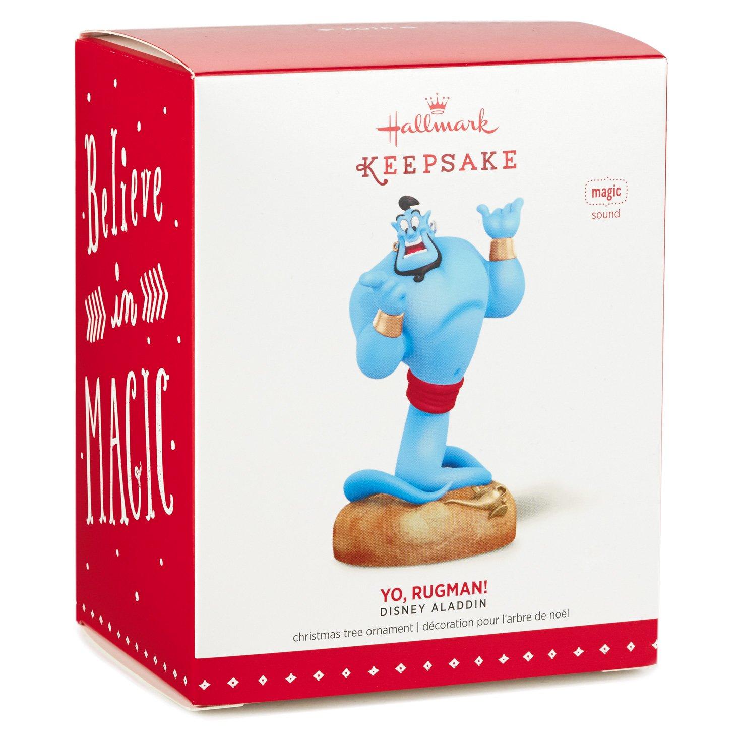 Amazoncom Hallmark Keepsake Ornament Disney Aladdin Yo, Rugman Genie With