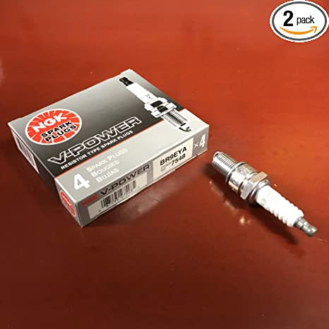 Amazon.com: NGK V-Power Spark Plugs - Stock #7548 - BR9EYA - Solid Tip - Pack of (8): Automotive