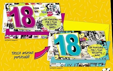 Tarjeta Felicitación cumpleaños Caudales 18 años Street 1 a ...