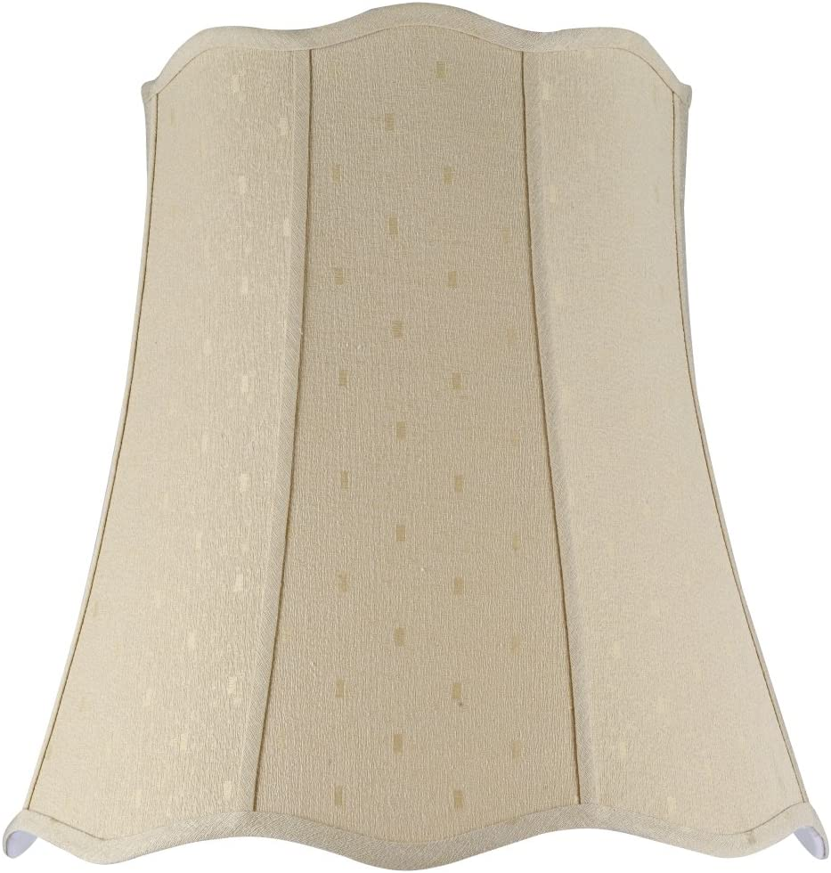 Aspen Creative 34026 Transitional Scallop Bell Shape Spider Construction Lamp Shade in Beige, 20 wide 14 x 20 x 20