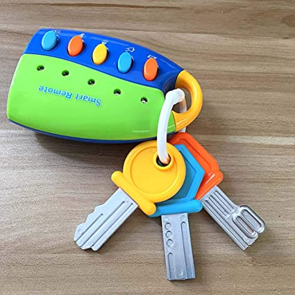 Smart Cute Musical Remote Car Key Voices Pretend Play Education Baby Kids Toys