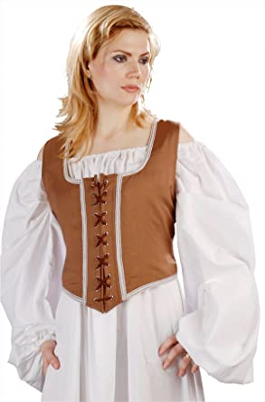 9abdb9cf845 Amazon.com  Armor Venue Reversible Wench Bodice (Decorated) - Medieval Renaissance  Costume  Clothing
