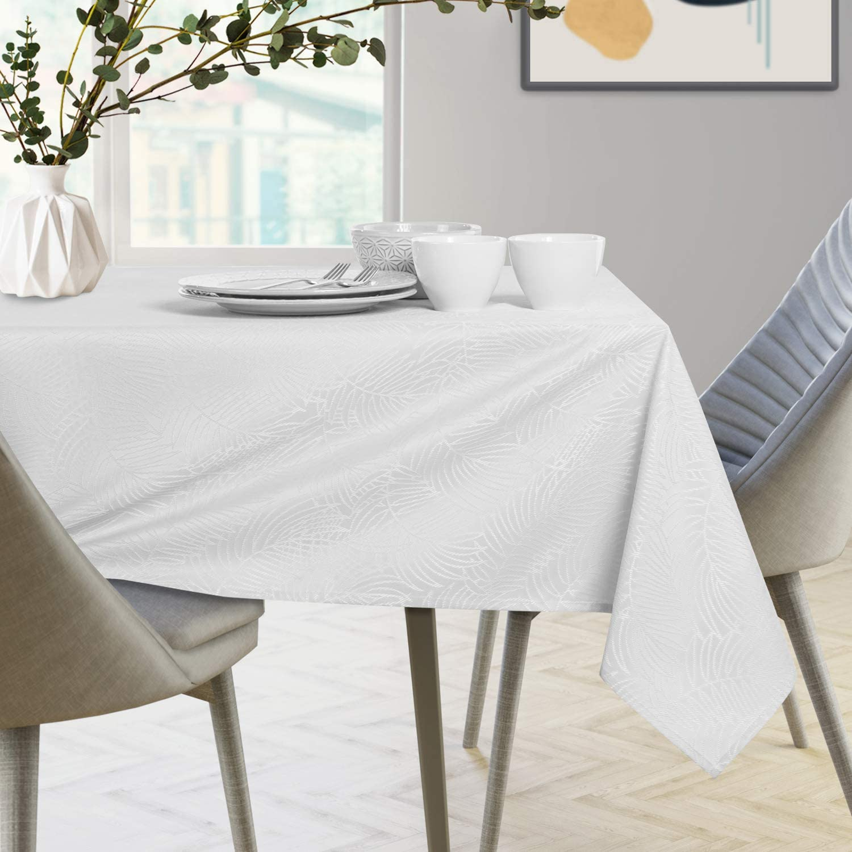 Mantel con efecto loto 40 x 40 cm poli/éster Color blanco. AmeliaHome resistente al agua