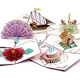 3d POP UP 闪存 | 妈妈生日礼品 | 3d 贺卡适用于所有 occasions | 孔雀折纸手工闪存 | X 152.4cm 信封包括 | 周年 BOUQUETS 贺卡