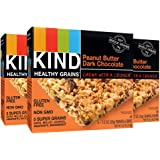 KIND Healthy Grains Granola Bars, Peanut Butter Dark Chocolate, Gluten Free, 1.2oz Bars, 15 Count