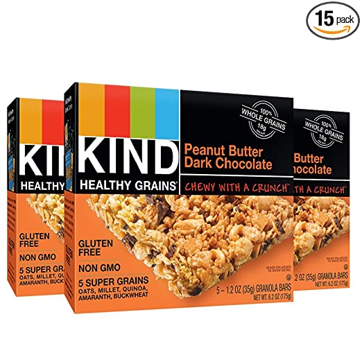 Kind Bar - Granola - Healthy Grains - Peanut Butter Dark Chocolate - 1.2 oz - 5 Count - Case of 8