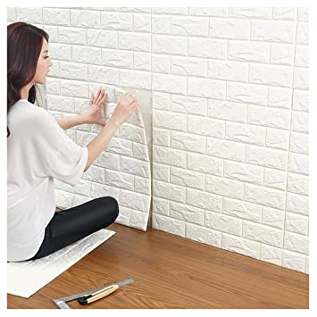 3D Ziegelstein Tapete, Selbstklebend Brick Muster Tapete, Fototapete ...