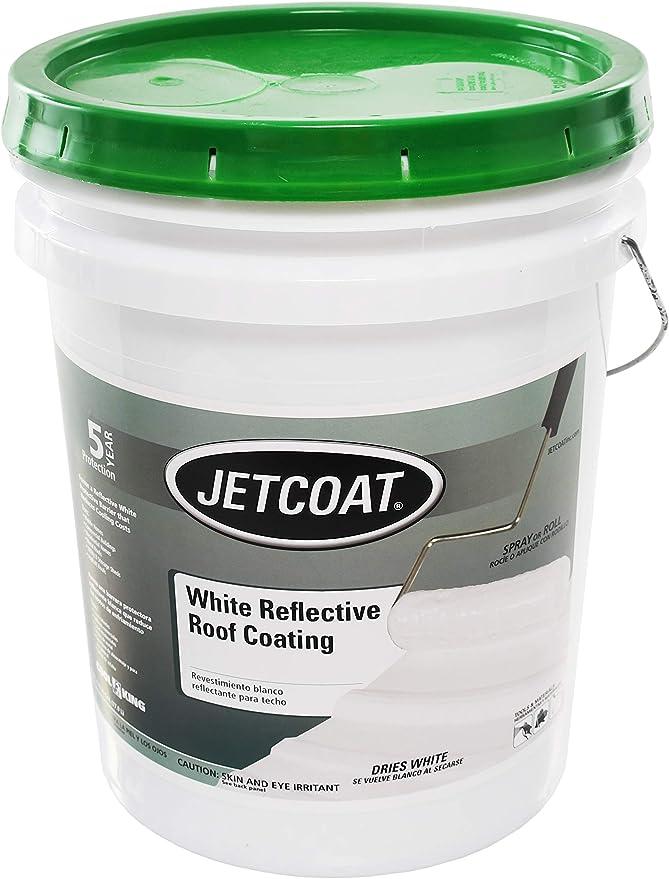 Jetcoat Cool King Reflective Acrylic Roof Coating, Waterproof Elastomeric Sealant