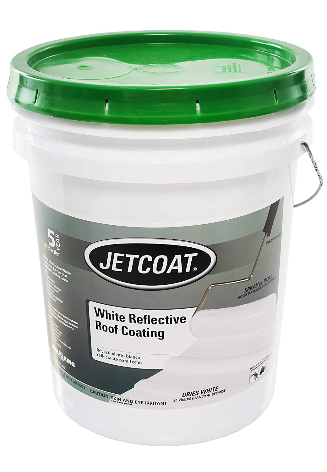 Amazon.com: Jetcoat Cool King Elastomeric Acrylic Reflective Roof Coating, White, 5 Gallon, 7 Year Protection: Automotive