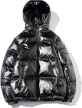 厚いフード、ゆるい光沢のある表面、男性用の綿のジャケット、カジュアルなパン、男性用のジャケット