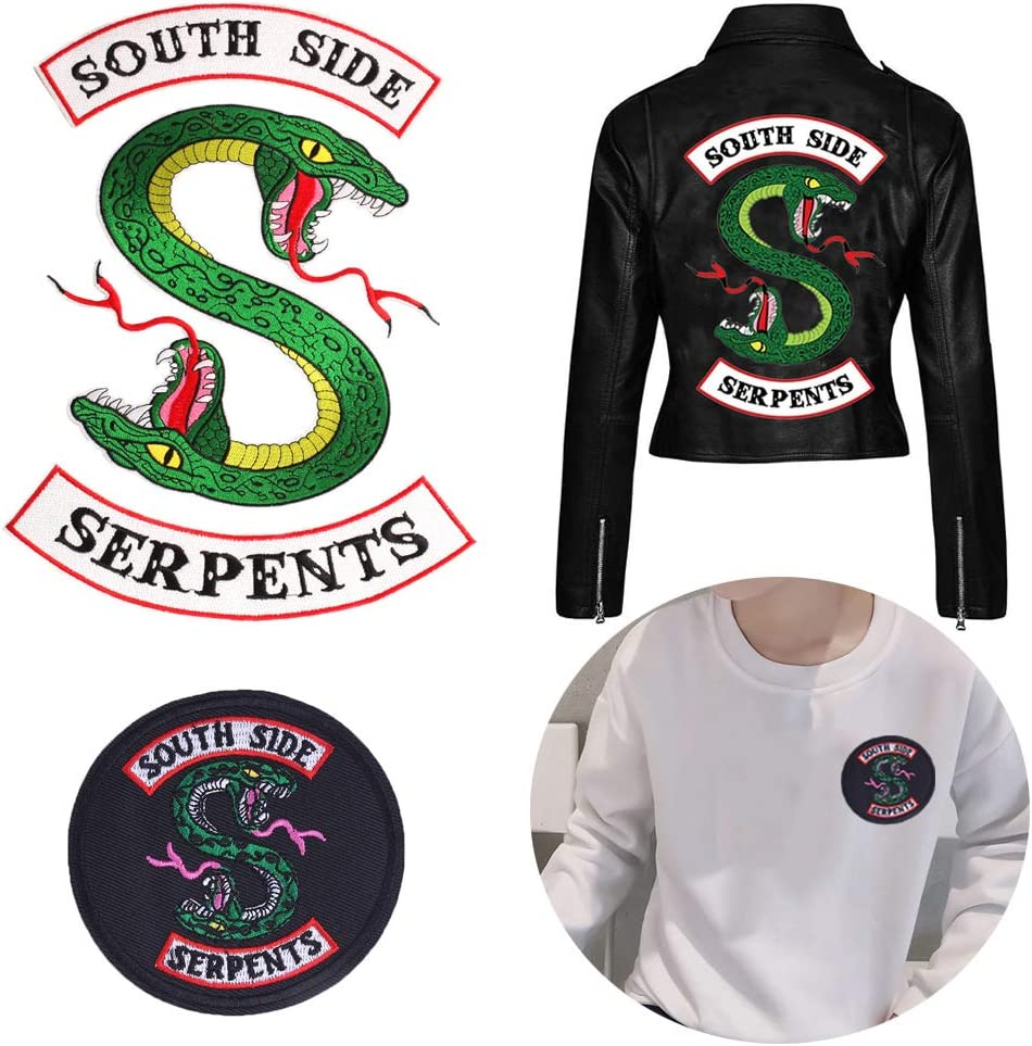 Snake Riverdale South Side Printed Heat Transfer Iron on Clothes T-Shirt Patches