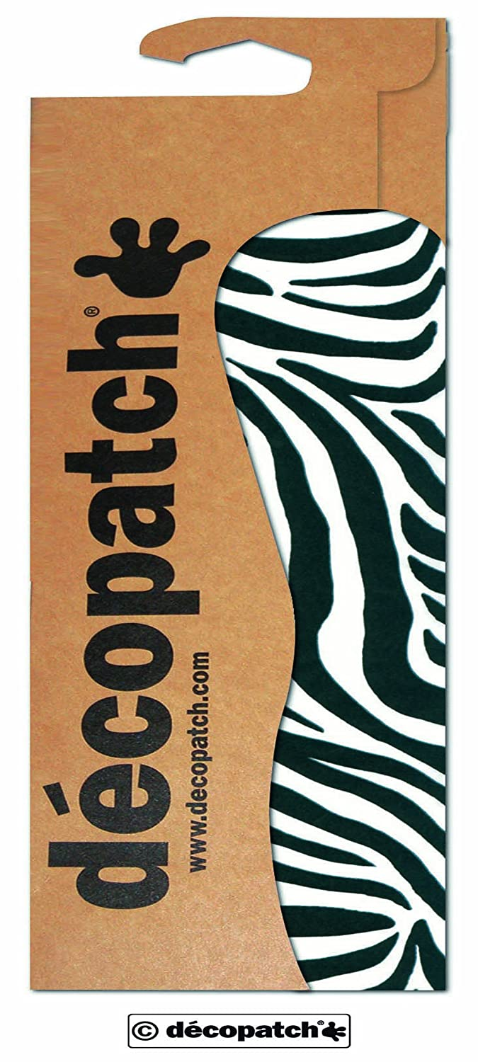 décopatch Animal Zebra Print Paper, 30 x 40 cm, Pack of 3 Sheets C429O