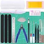 Keadic 29Pcs Gundam Modeler Basic Tools Craft Set with a Plastic