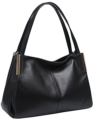 c490bc64c1 Amazon.com  Heshe Women s Leather Handbags Top Handle Totes Bags Shoulder  Handbag Satchel Designer Purse Cross Body Bag for Office Lady (Black-R)   Shoes
