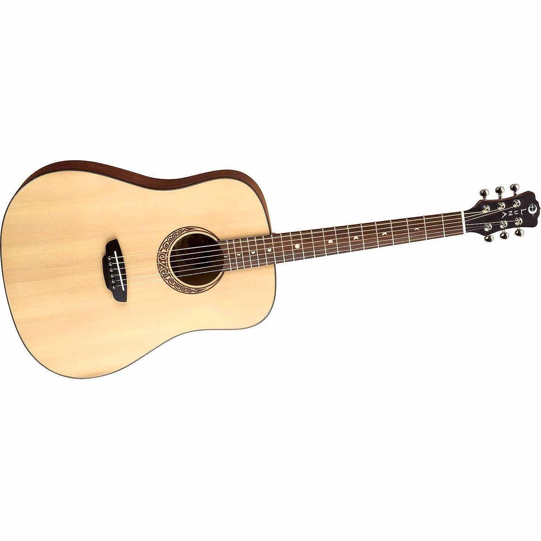 Amazon.com: Luna Gypsy Muse Acoustic Guitar, with Hardshell Case ...