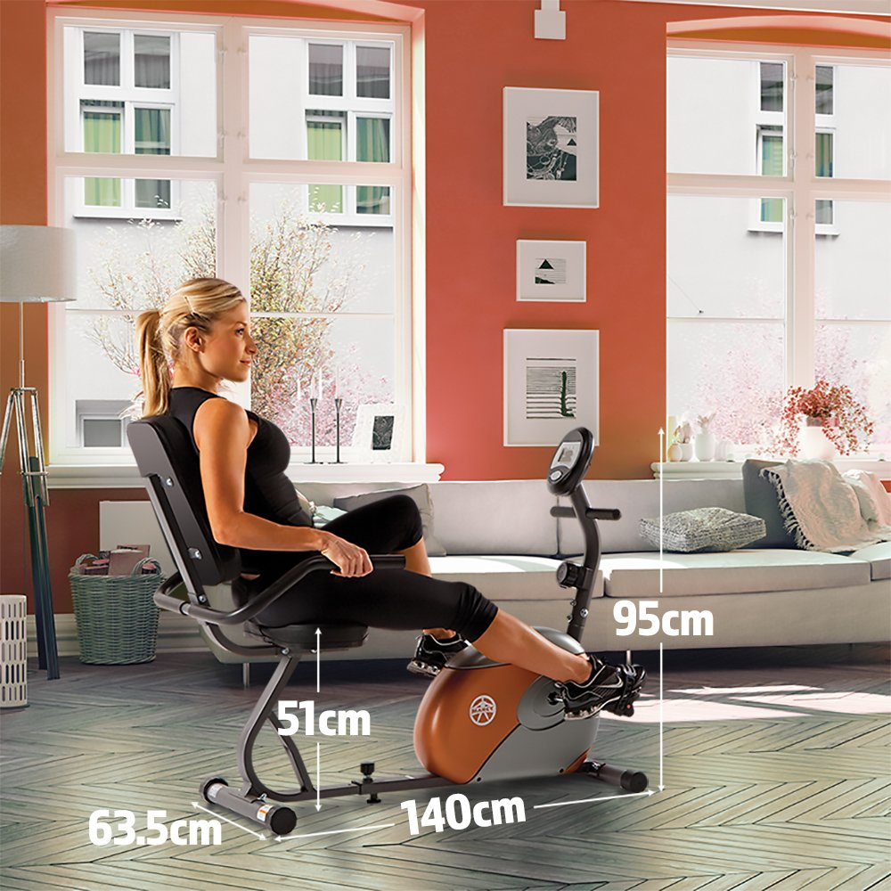 Marcy Recumbent Exercise Bike with Resistance ME-709 by Marcy (Image #2)