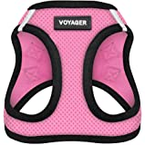 Voyager All Weather No Pull Step-in Mesh Dog Harness with Padded Vest, Best Pet Supplies, Small, Pink Base
