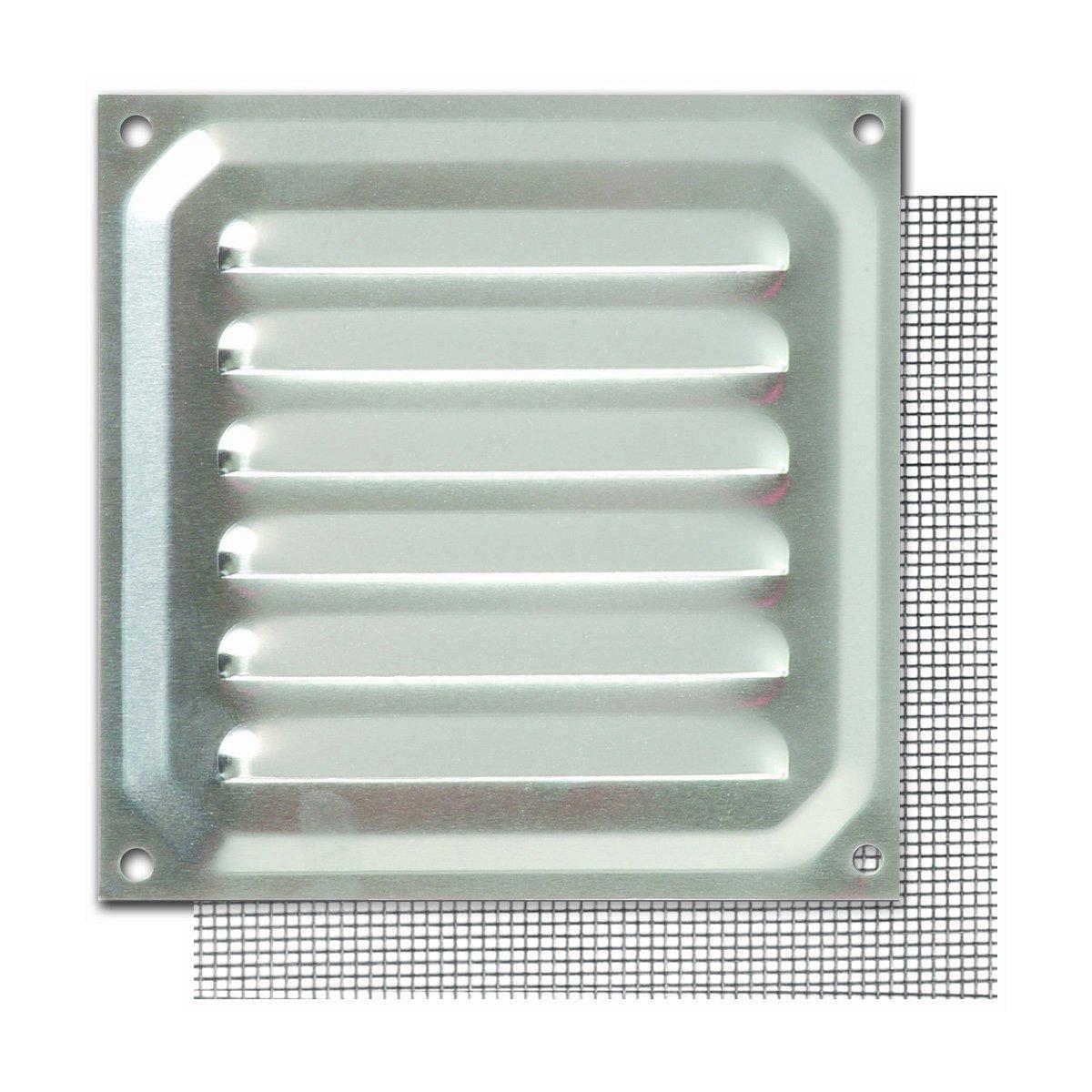 10 x 10 cm Brinox B73000D Rejilla con mosquitera Lacado Blanco