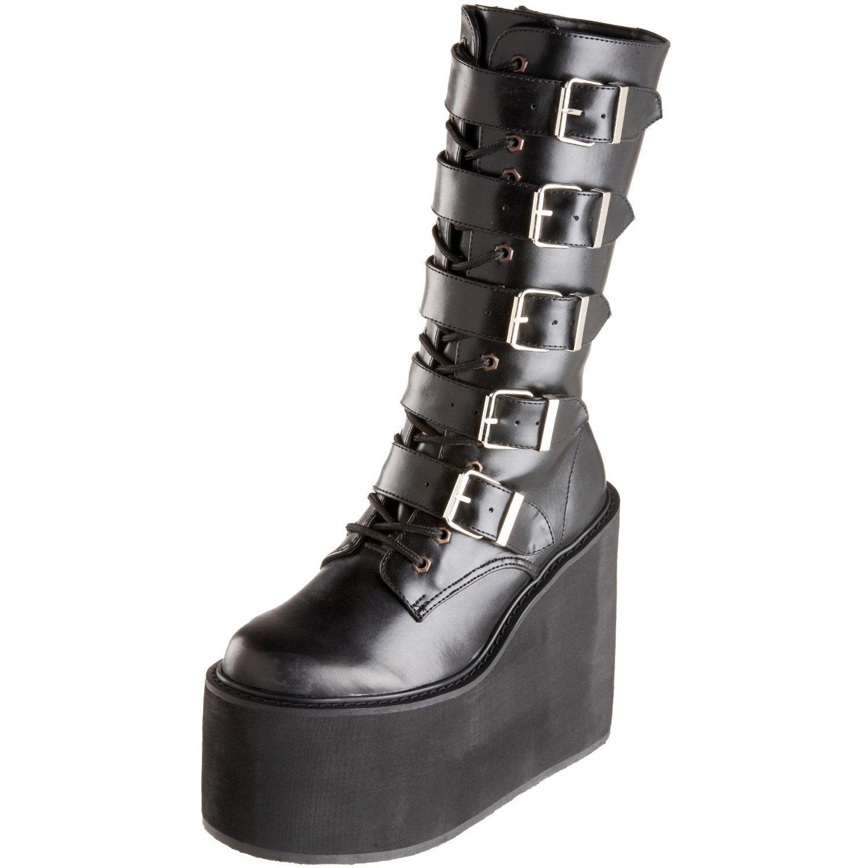 Demonia by Pleaser Women's Swing-220 5 Buckle Platform Boot B00HV9XVWM 9 B(M) US|Black Pu Leath
