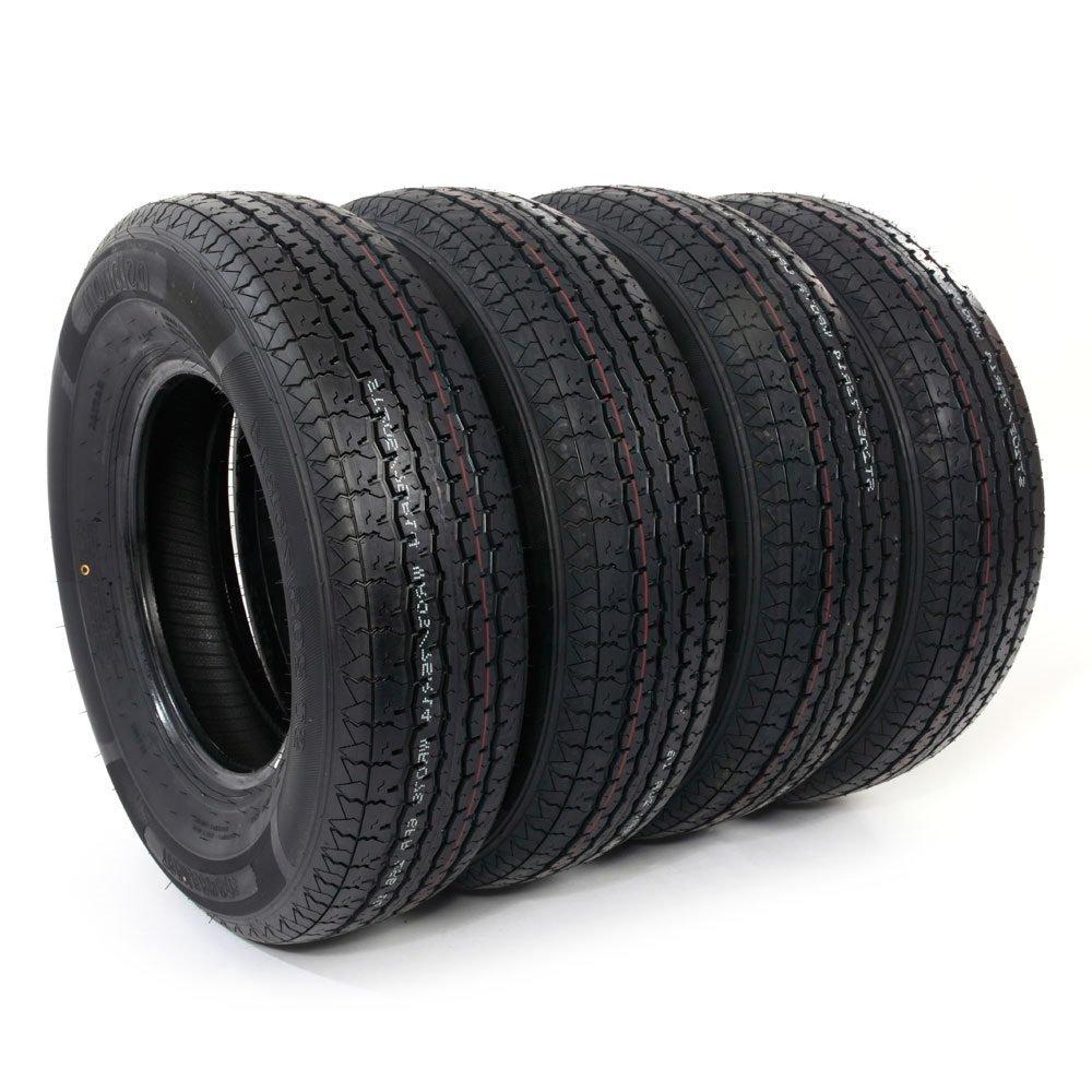 Set of 4 ST205/75R14 Radial Trailer Tires 6 Ply Load Range C 205 75 14