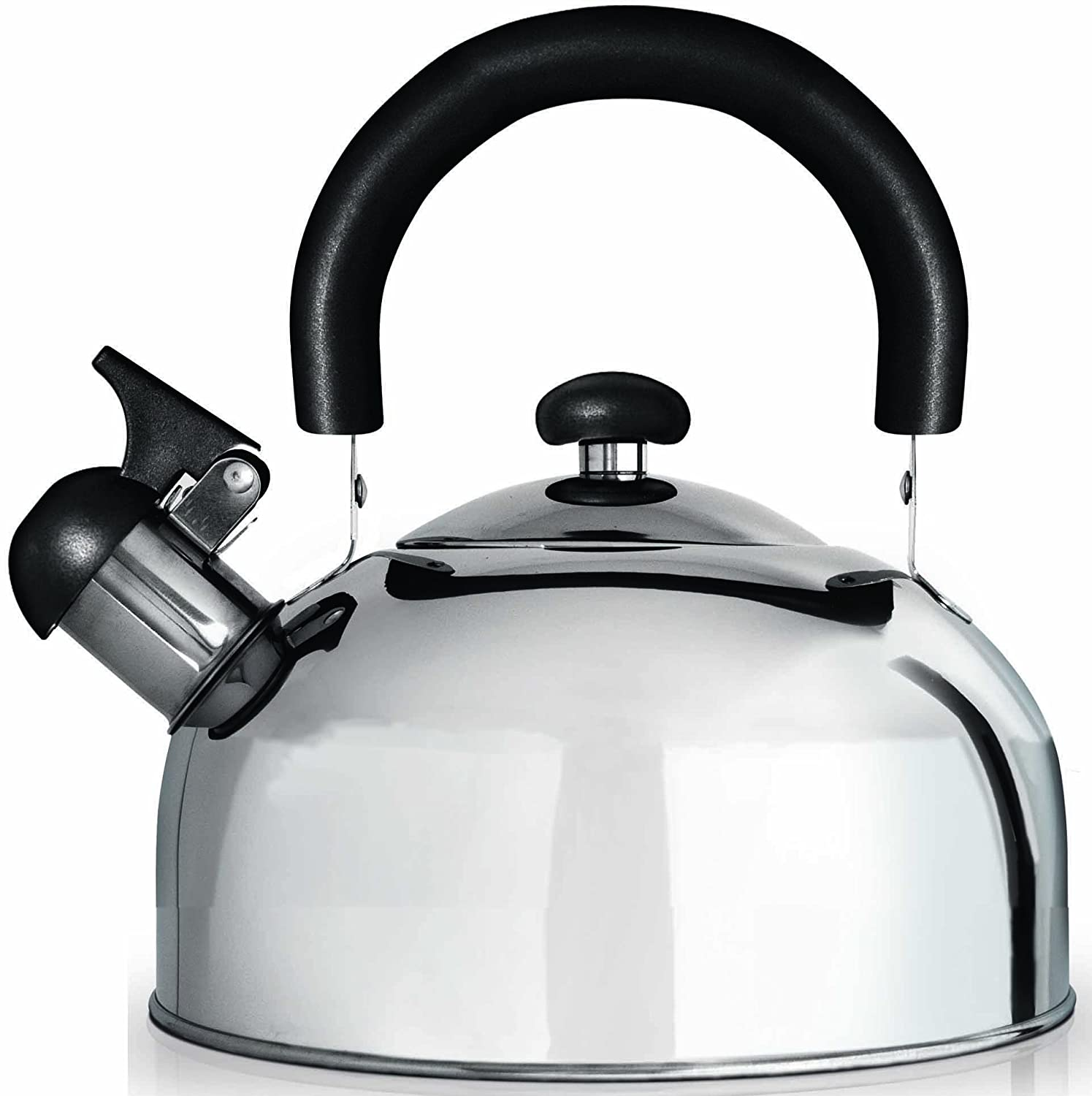 Grunwerg Cafe Ole Stainless Steel Stove Top Whistling Kettle HTK-15
