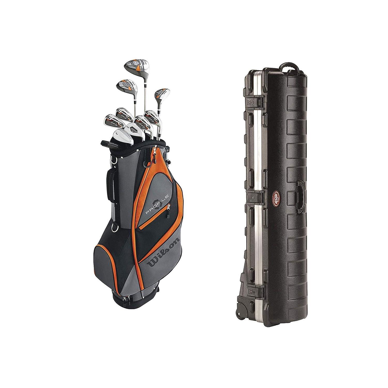 ウィルソン プロファイル XD ティーン用 右利き用 ゴルフクラブセット バッグ付き OrangeSKB ケース デラックス ATA 標準 ハード プラスチック 収納 ホイール ゴルフ バッグ トラベル ケース   B07NCZVC53