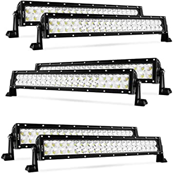 22/'/' 120W LED Work Light Bar Spot Flood Combo Fog Driving For Dodge  Boat Lamp