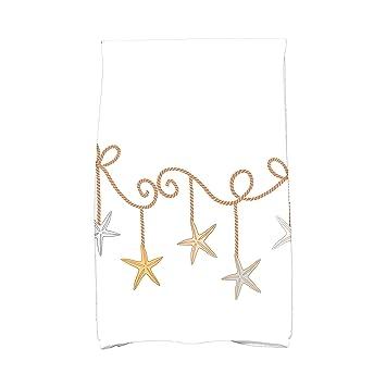 E por diseño Coastal adornos de estrellas de Navidad geométrico impresión toalla de mano: Amazon.es: Hogar