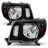 "ACANII - For 2005-2011 Toyota Tacoma Pre-Runner Headlights Blk Headlamp""TRD Style"" 05-11 Driver + Passenger Side"