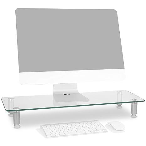 Duronic DM052-3 Soporte Monitor Ajustable, Elevador para Pantalla, Ordenador Portátil, Televisor