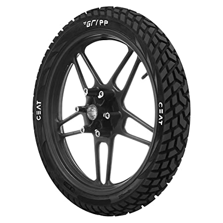 Ceat Gripp 100/90-18 56P Tube-Type Bike Tyre, Rear (Home Delivery)