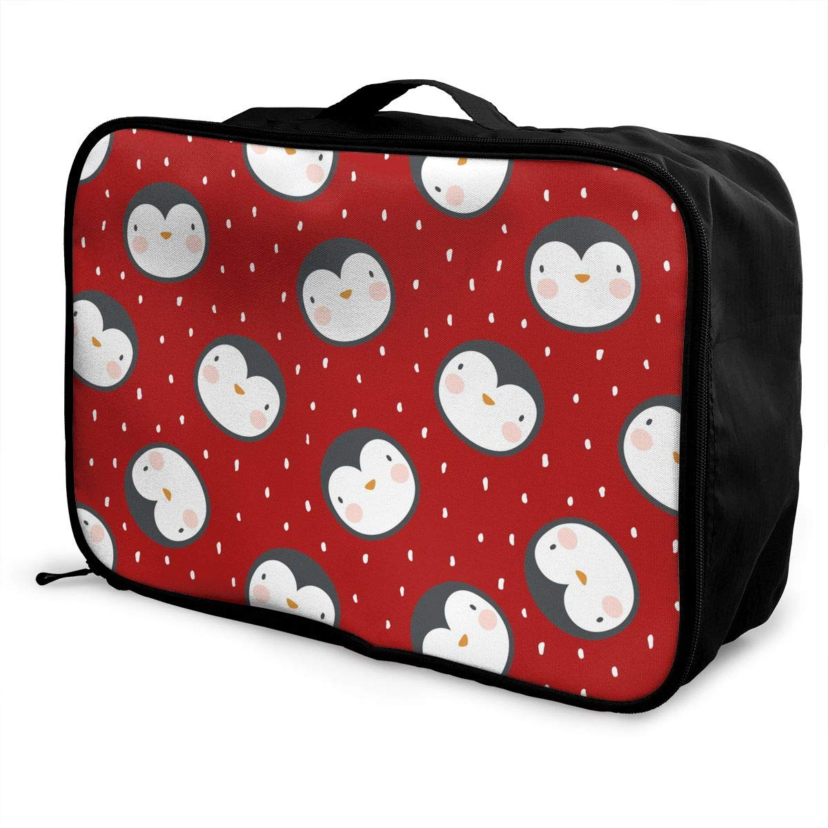 1bf968ed44d8 Amazon.com: Penguin With Snow Cartoon Pattern Luggage Bag Capacity ...