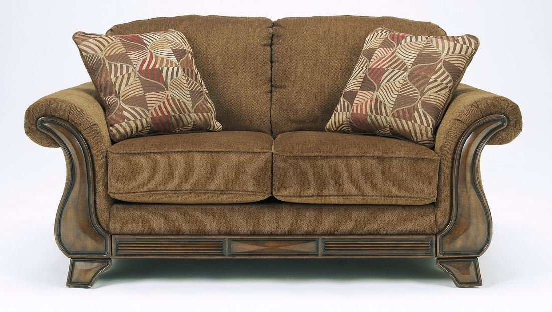 Amazon.com: Ashley Furniture Signature Design   Montgomery Sofa With 2  Throw Pillows   Classic Style   Mocha: Kitchen U0026 Dining